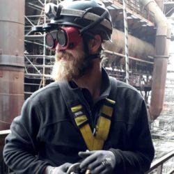 Teclimb Team Mitglied und Höhenarbeiter Boris Kompatscher