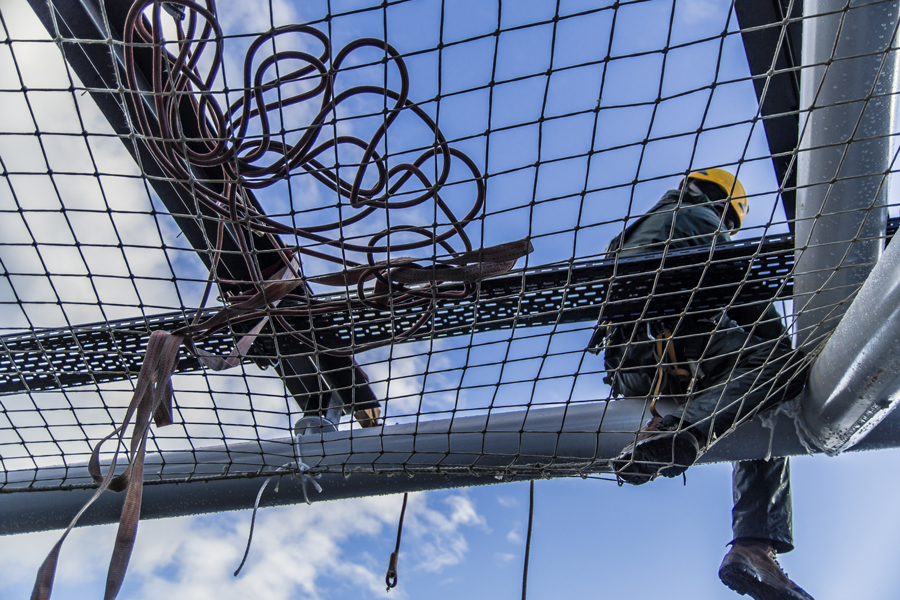 Arbeitsplattformnetze Personenauffangnetze Dachrandsicherungen